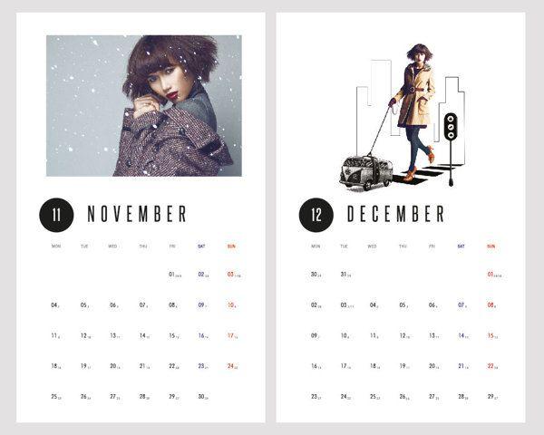 november calendar pose