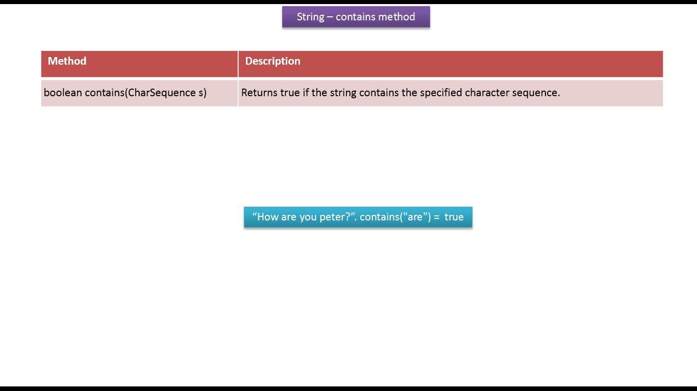 Java ee java tutorial java string containscharsequence s java ee java tutorial java string containscharsequence s method baditri Gallery