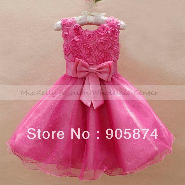 a0d25d7a6 vestidos de PRINCESA PARA NIÑA 3 AÑOS Los niños arco rosa de encaje ...
