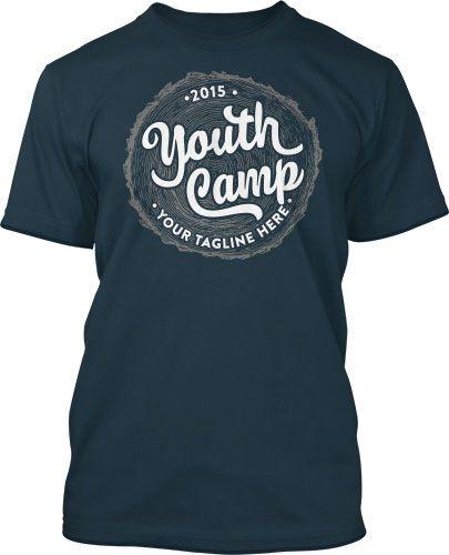 3846e6d2a Growth Youth Camp Summer Camp T-Shirt Design #418 | Summer Camp T ...