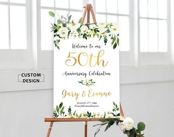 50th anniversary poster, 50th anniversary sign, Anniversary Sign Printable, 50th Anniversary decoration, Wedding Anniversary, Gold Wedding