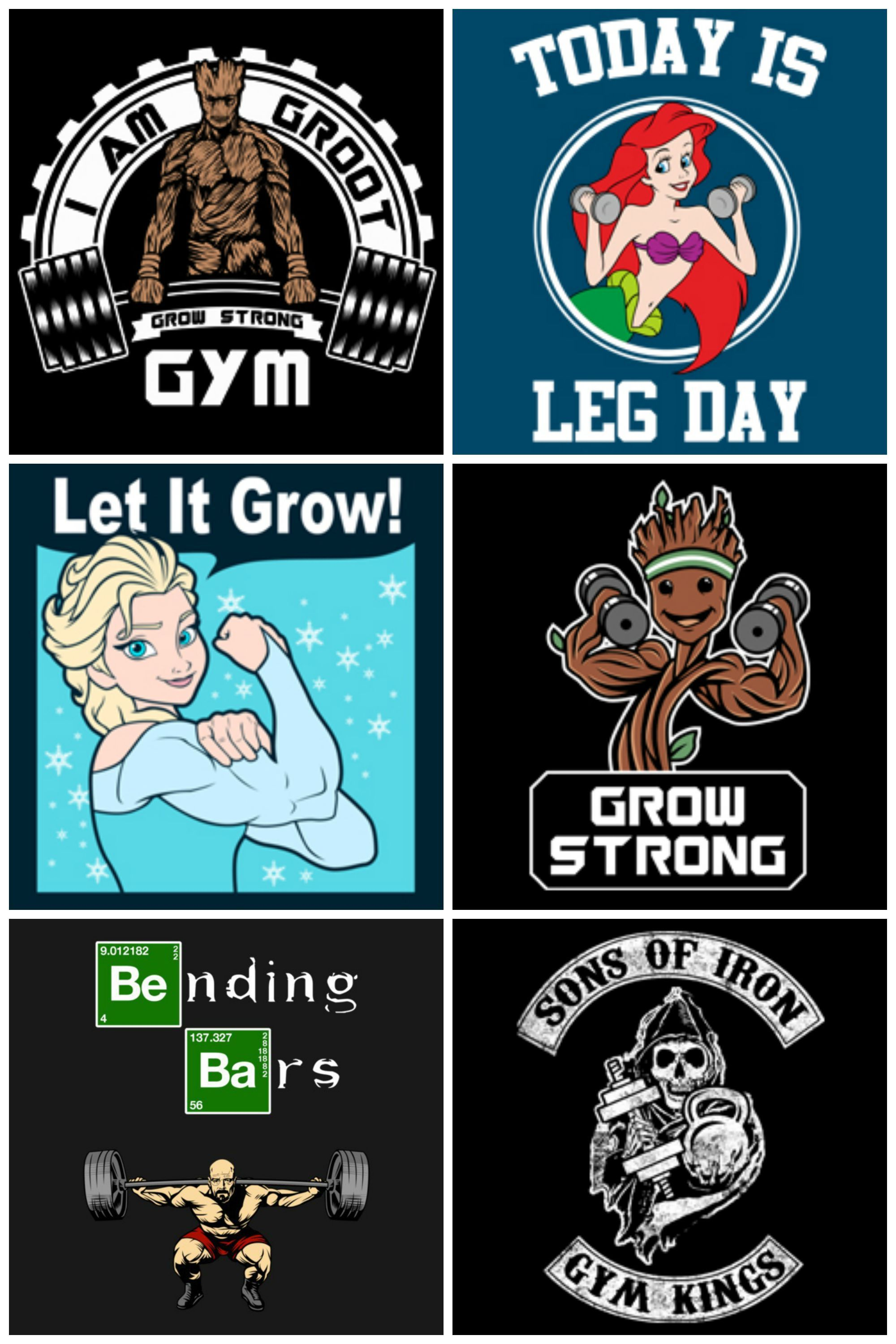 Funny gym shirts and tank tops plus girls racerback tanks @ https://www.teepublic.com/user/WorkoutQuotes