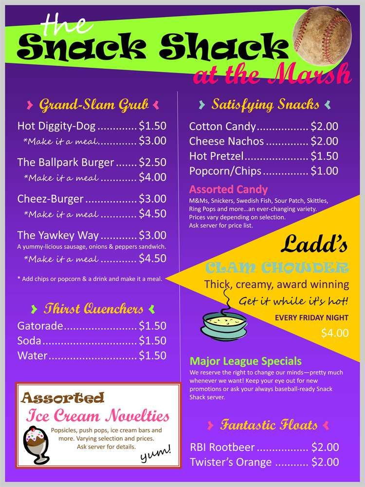 snack shack menu board in 2018 pinterest snacks concession