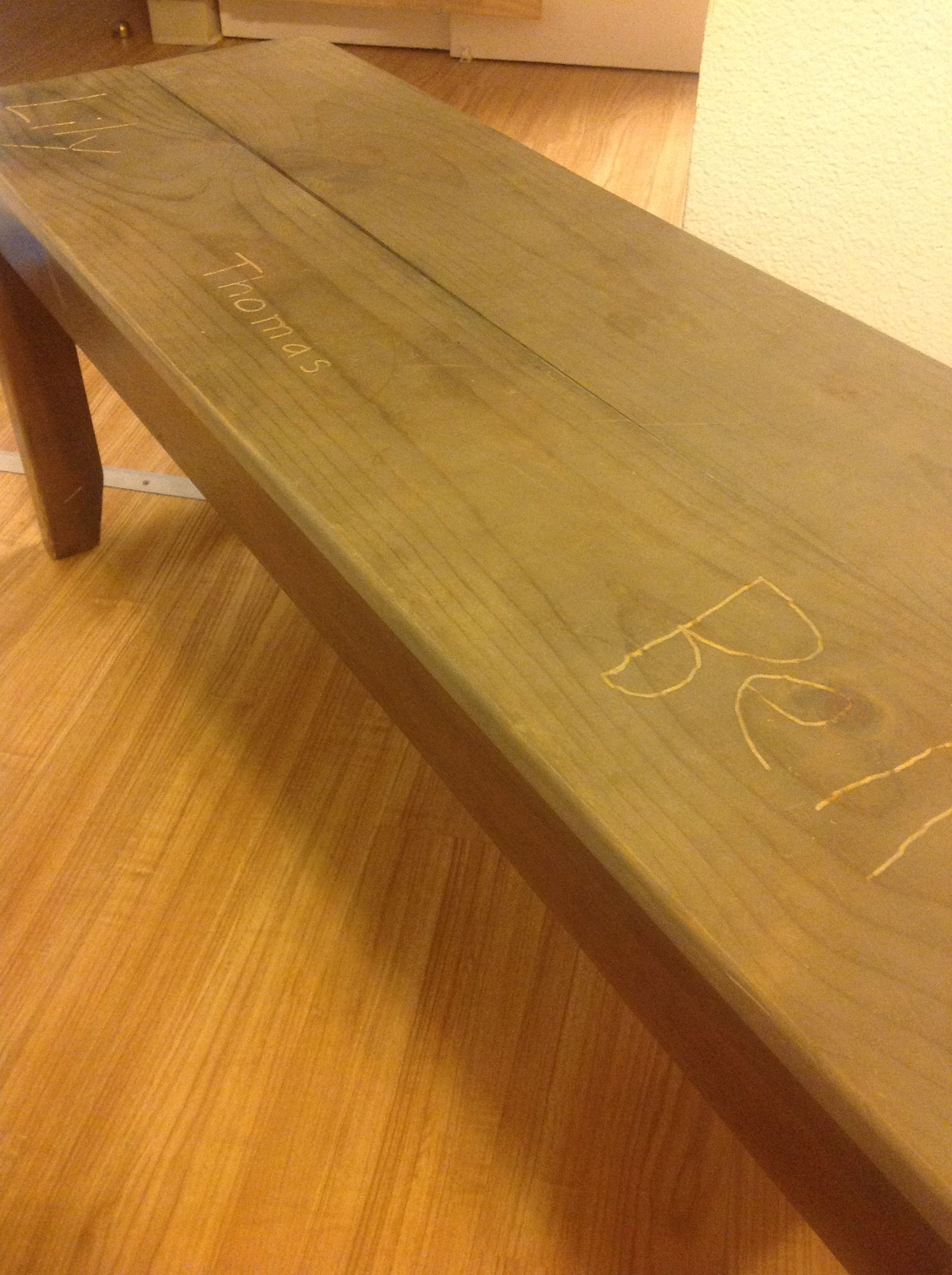 Instead Of Reupholstering Our Dining Room Bench We Fitted It With Two New Planks