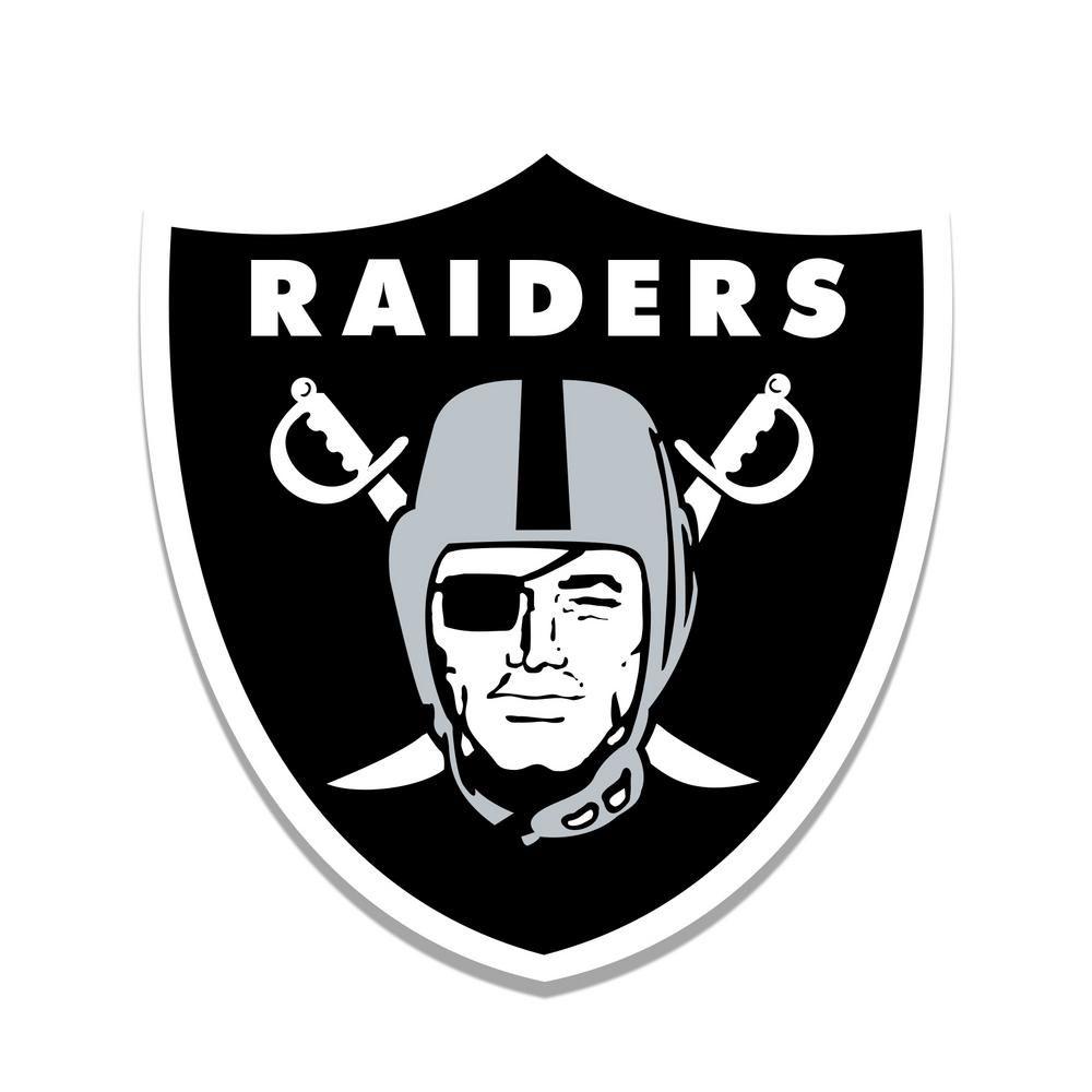 Adventure Furniture NFL Indoor Oakland Raiders Distressed Logo Cutout Wood  Sign 93ef521cd