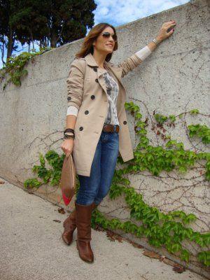 0371dfc54e MYDRESSINGSTYLE Outfit Otoño 2012. Combinar Abrigo Beige Stradivarius