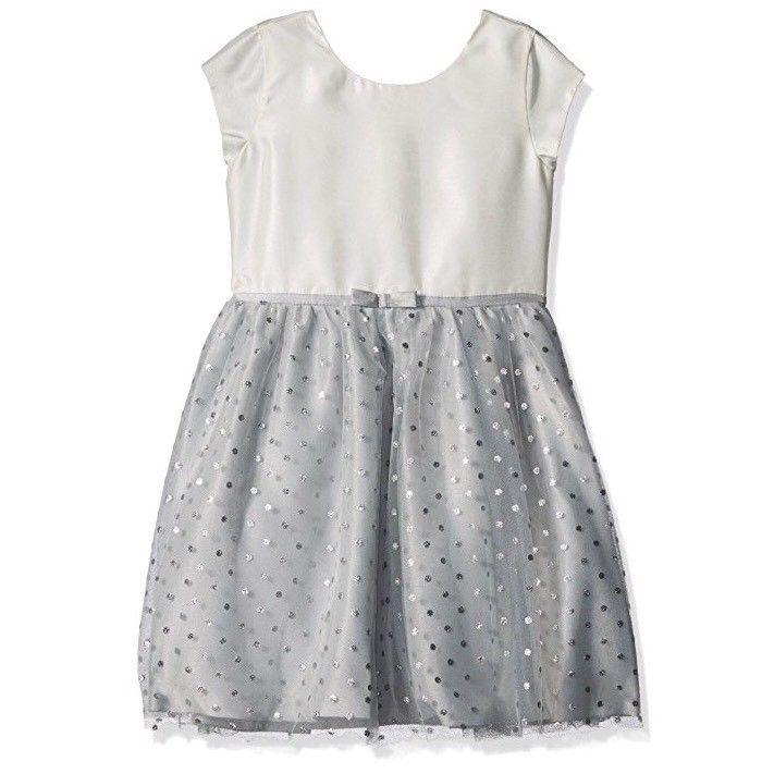 1271ea2cd4 Gymboree Polka Dot Silver Glitter Tutu Dress 6 Cap Sleeves Ivory NWT NEW    eBay