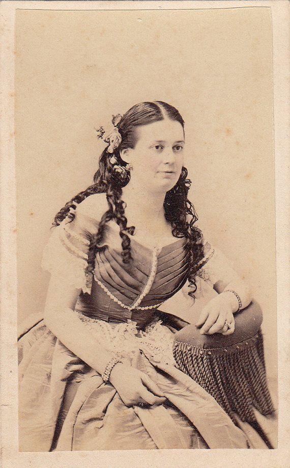 Civil War CDV Anna Swering Ball Gown Sausage by LangdonsListPhotos, $4.00