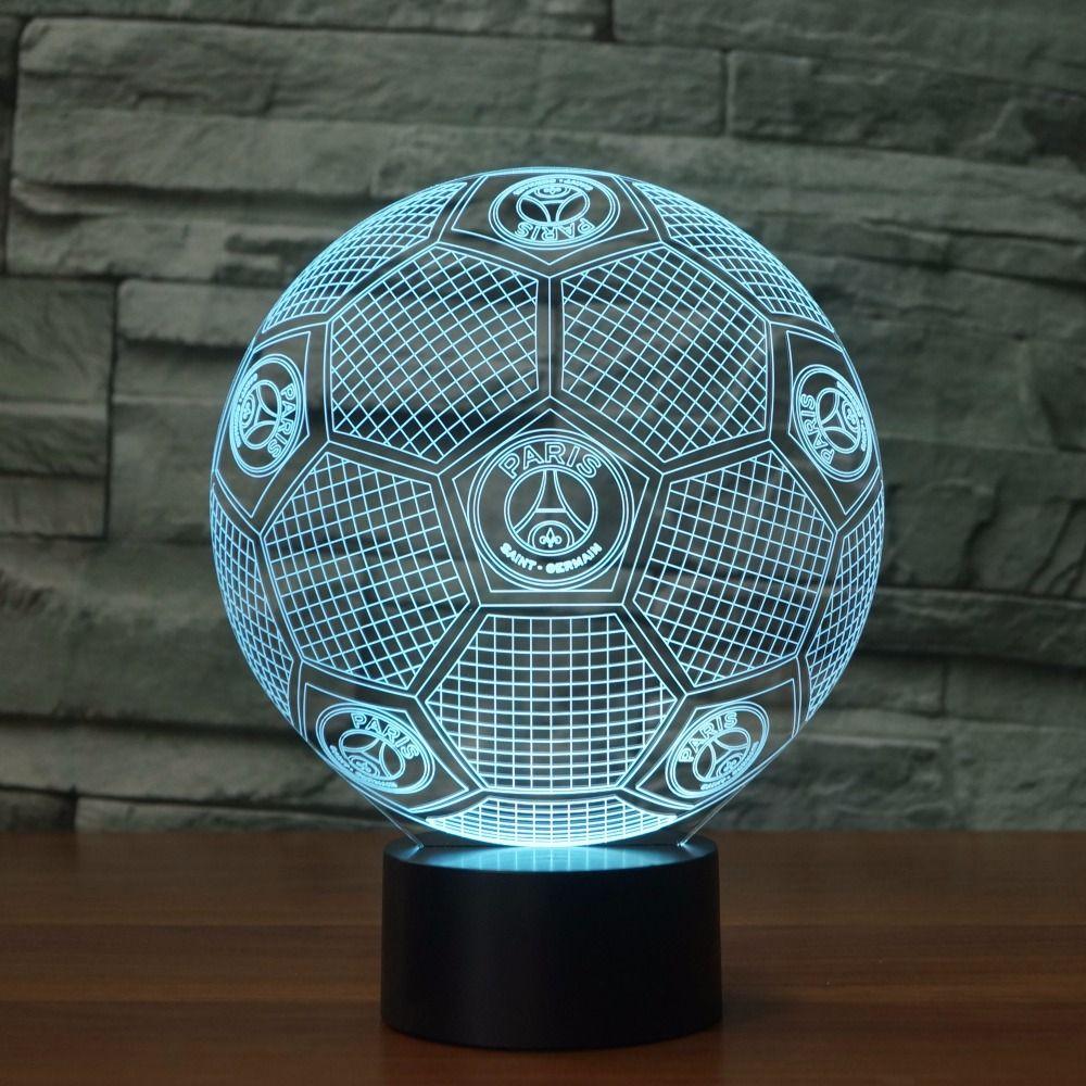 3d Led Lampe 7 Couleurs Changeantes 3d Illusion Lampe De Football Lumiere De Nuit 3d Visuelle Lumiere Cadeau P 3d Illusion Lamp 3d Illusions Color Changing Led