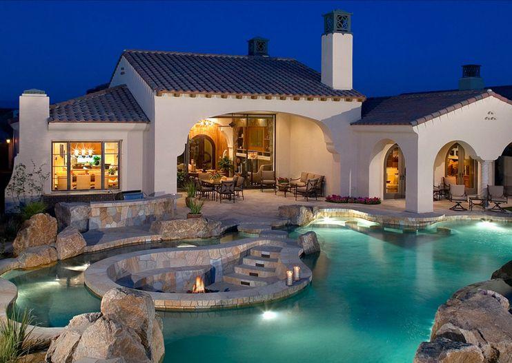 Mediterranean House Styles Design Dream Home Pinterest