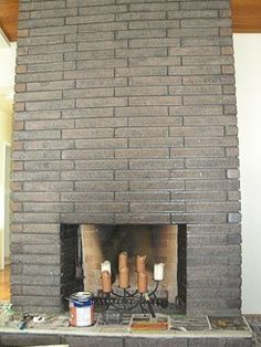 Instead Of Cleaning Or Painting Brick Stain Your Brick Fireplace