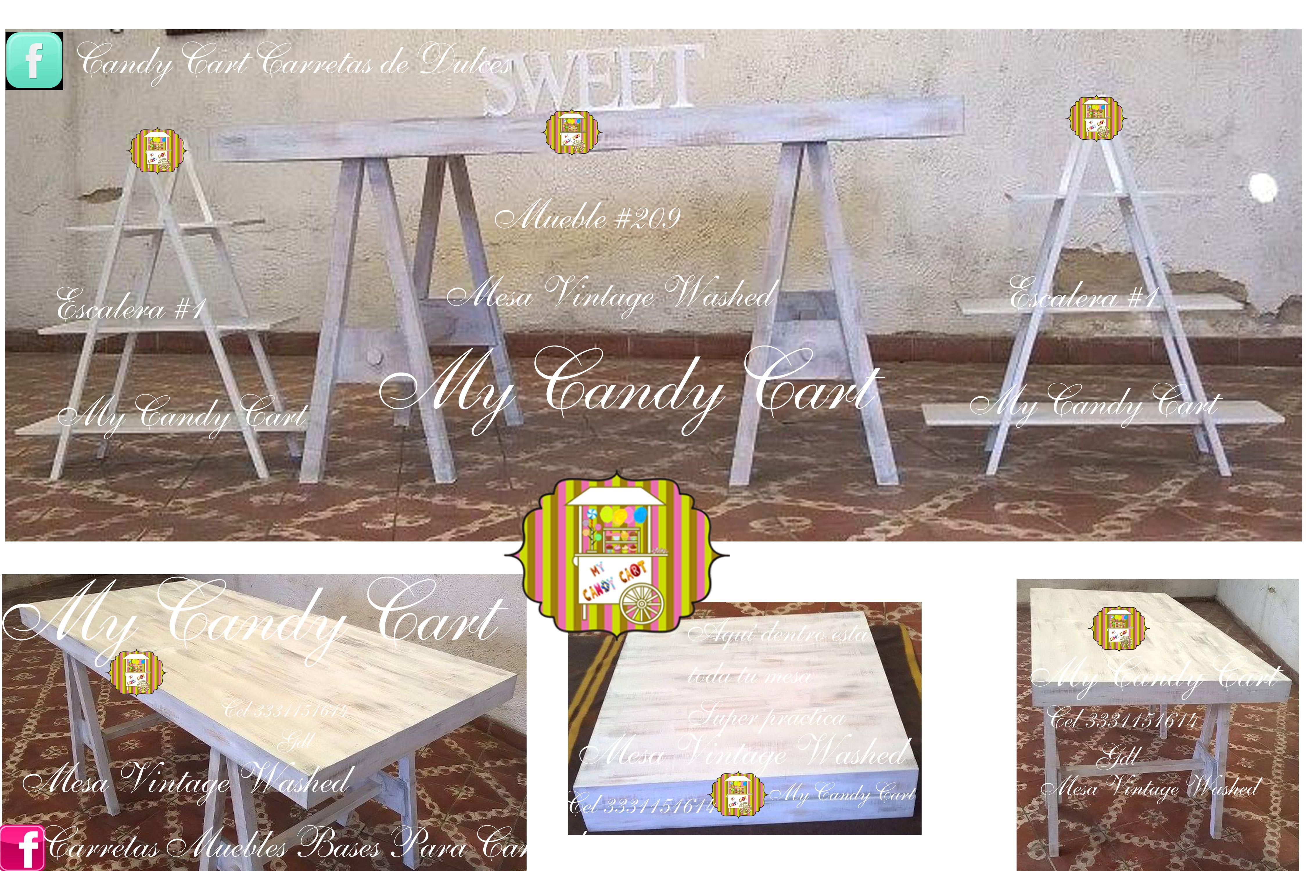 Mueble 209 mesa vintage washed desmontable y plegable - Venta de muebles vintage ...