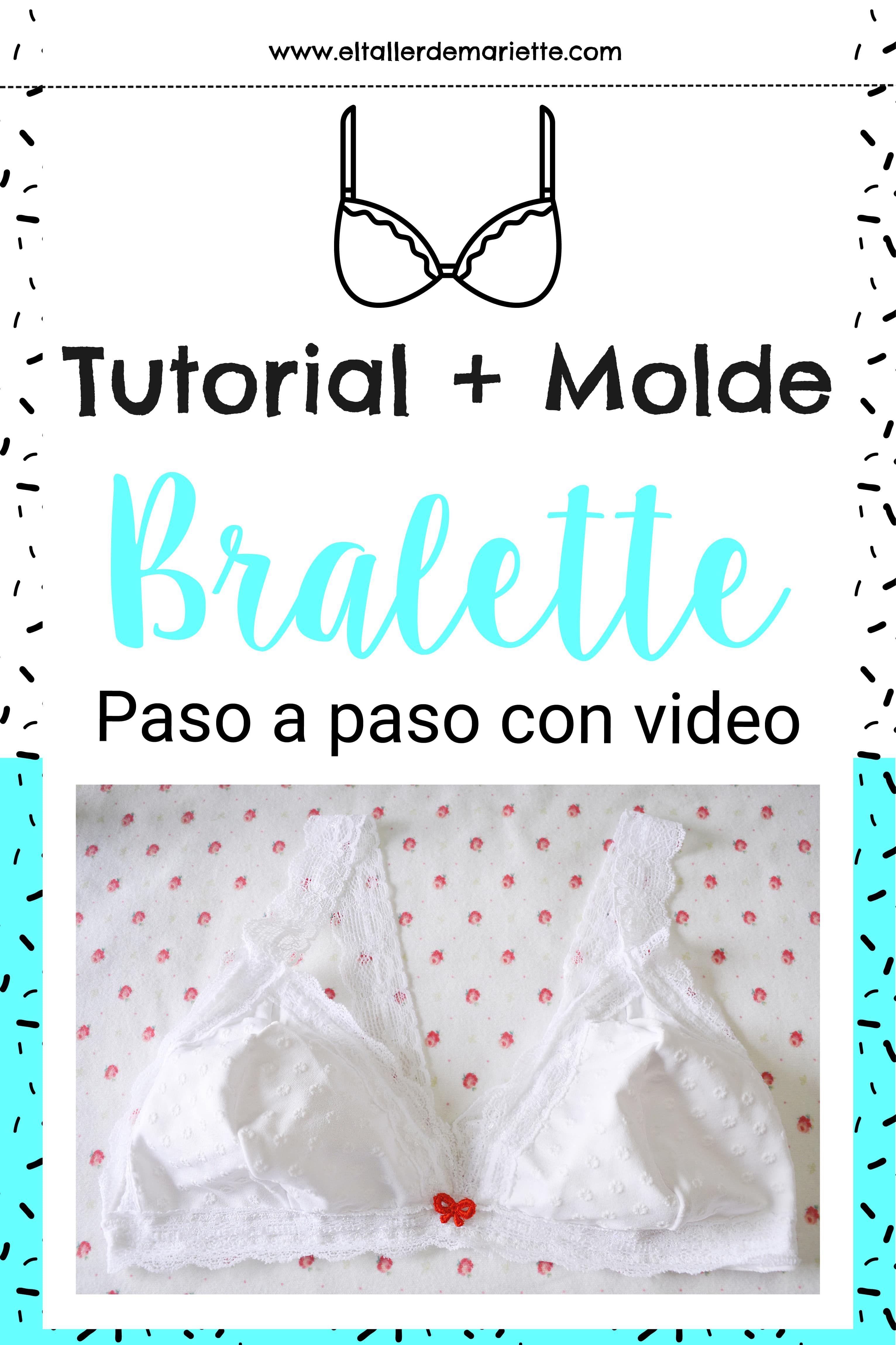 Bralette tutorial | costuras | Pinterest | Costura, Ropa interior y ...