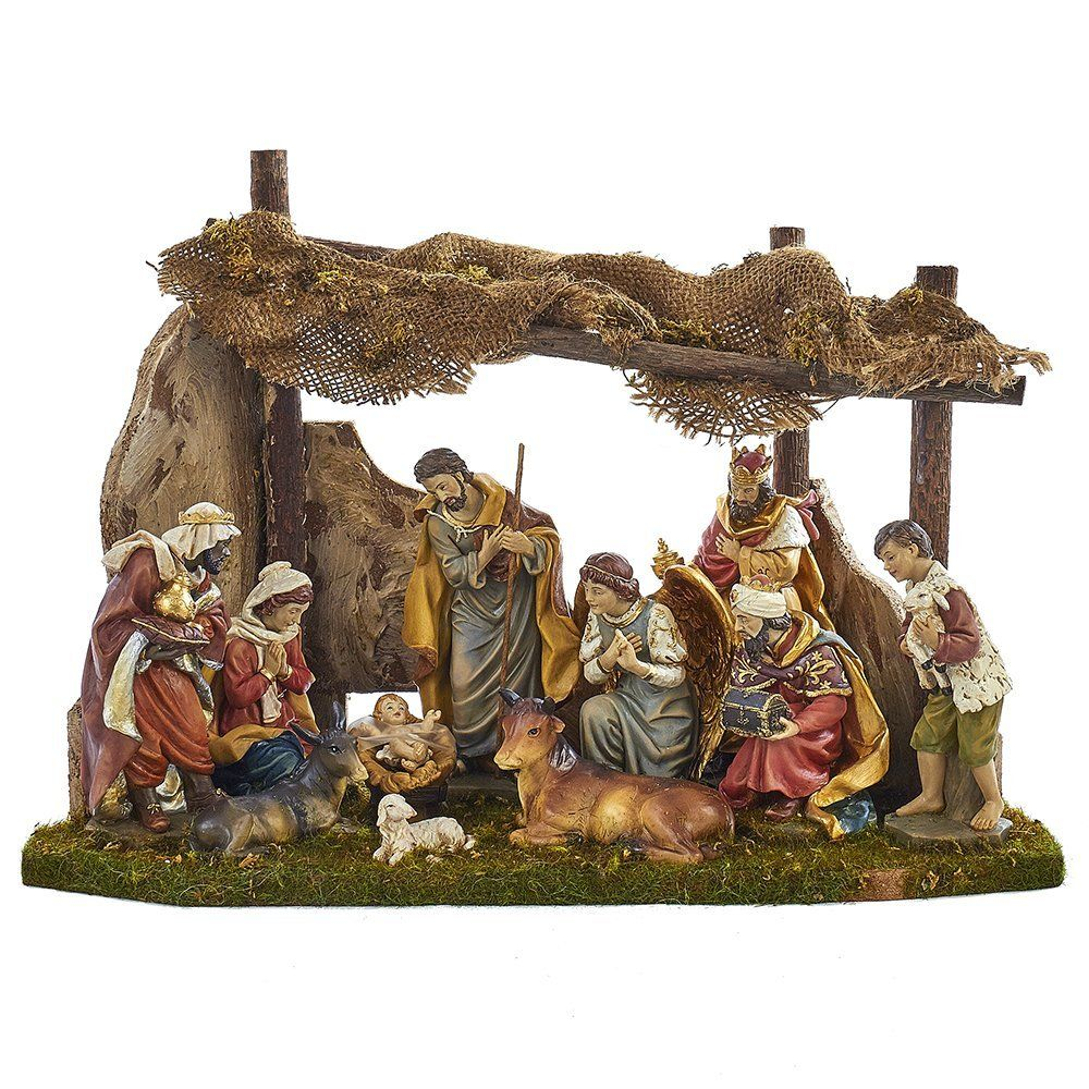 Buy Kurt Adler Nativity Set With 11 Figures And Stable Online At Low Prices In India Amazon In Christmas Nativity Set Nativity Set Nativity