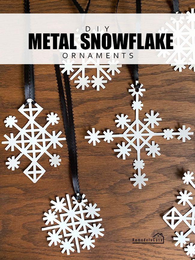 DIY Metal Snowflake Ornaments Holiday crafts diy