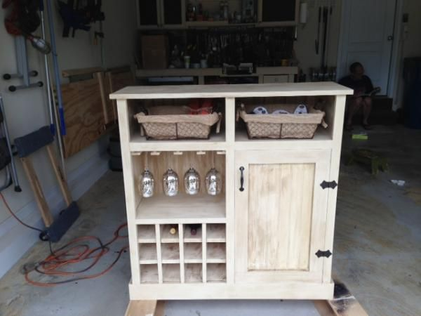 Credenza Per Cantina : Shanty console turns wine cabinet do it yourself home projects