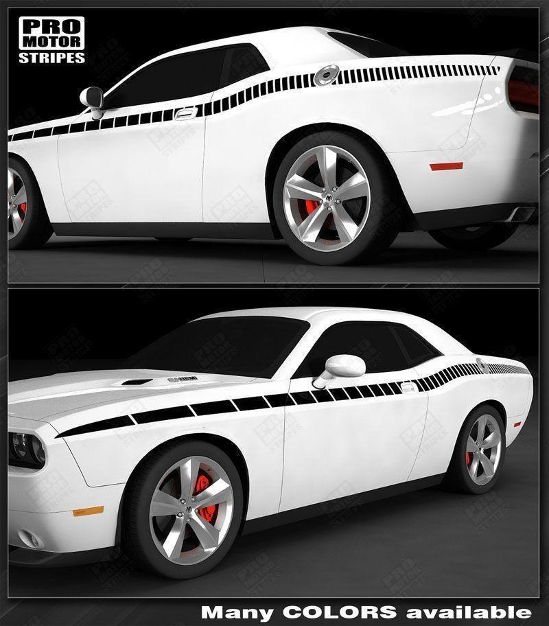 Dodge Challenger 2008-2019 Rear Quarter Side Strobe Stripes Decals Choose Color
