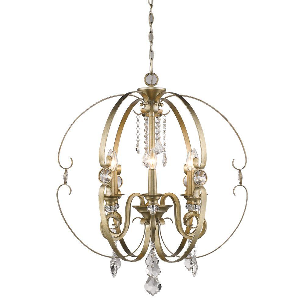 Golden Lightingu0027s Ella 6 Light Chandelier ...