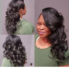Cute sew in style | Black brides hairstyles, Bride