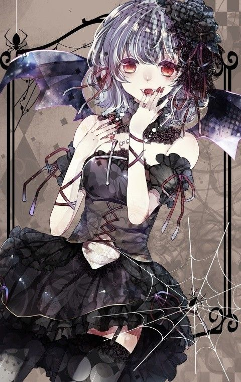 Anime Art Gothic Gothic Fashion Vampire Girl Bat