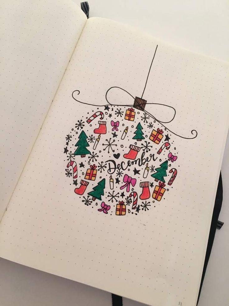 Weihnachtskugel Dezember Titelseite #bulletjournals Weihnachtskugel Dezember Titelseite - #Dezember #Titelseite #Weihnachtskugel #bulletjournaldecember
