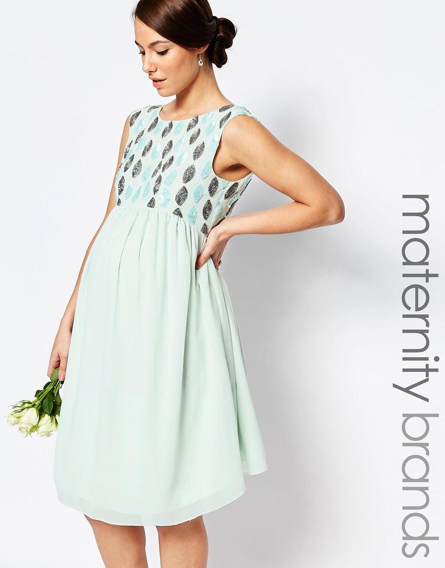 Image 1 of Maya Maternity Embellished Prom Dress | My Style ...