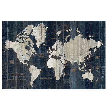 Matches the pirate ship We could get this famed at Hobby Lobby as - copy rainbow world map canvas