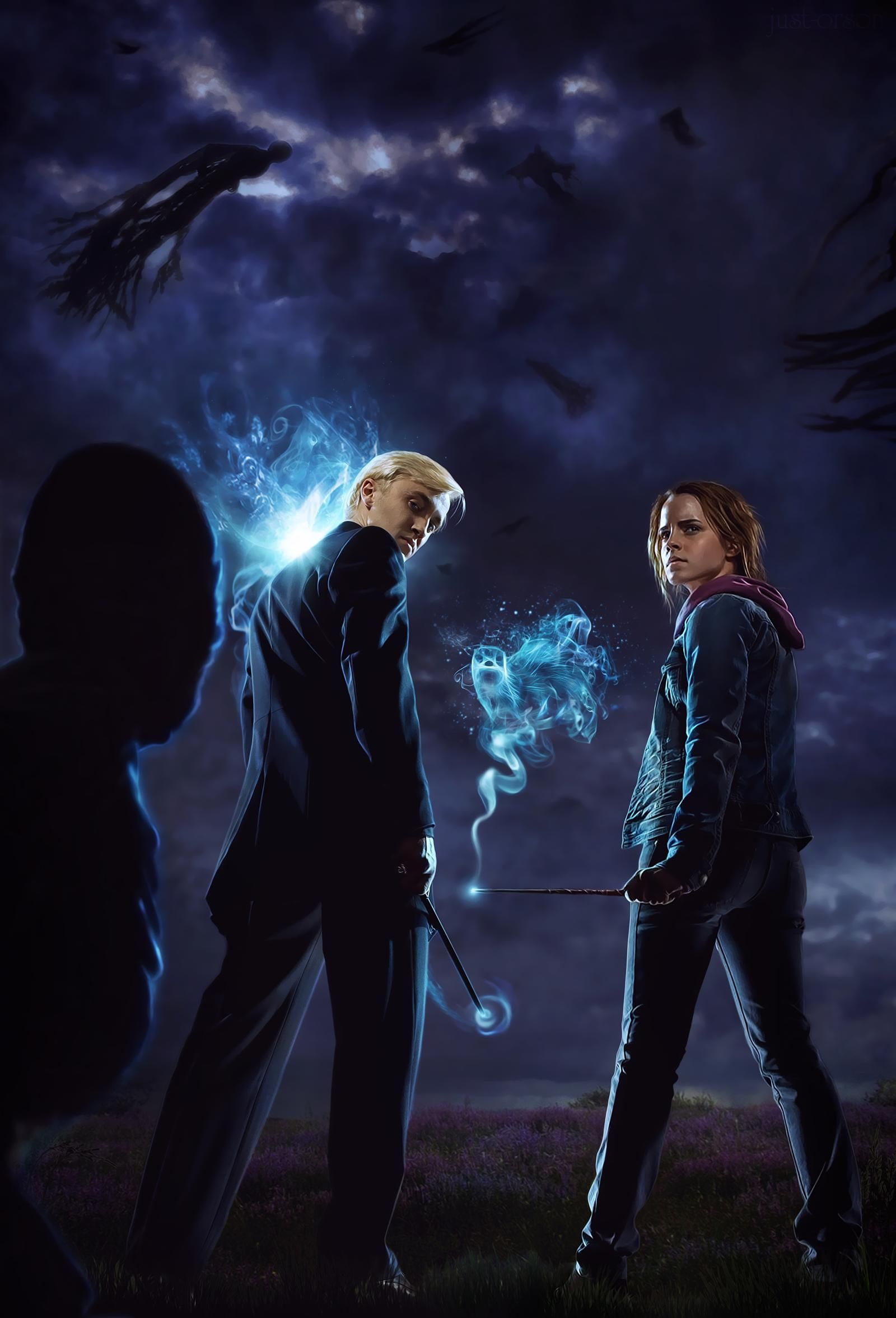 Expecto Patronum By Just Orson On Deviantart Harry Potter Draco Malfoy Harry Potter Wallpaper Harry Potter Pictures