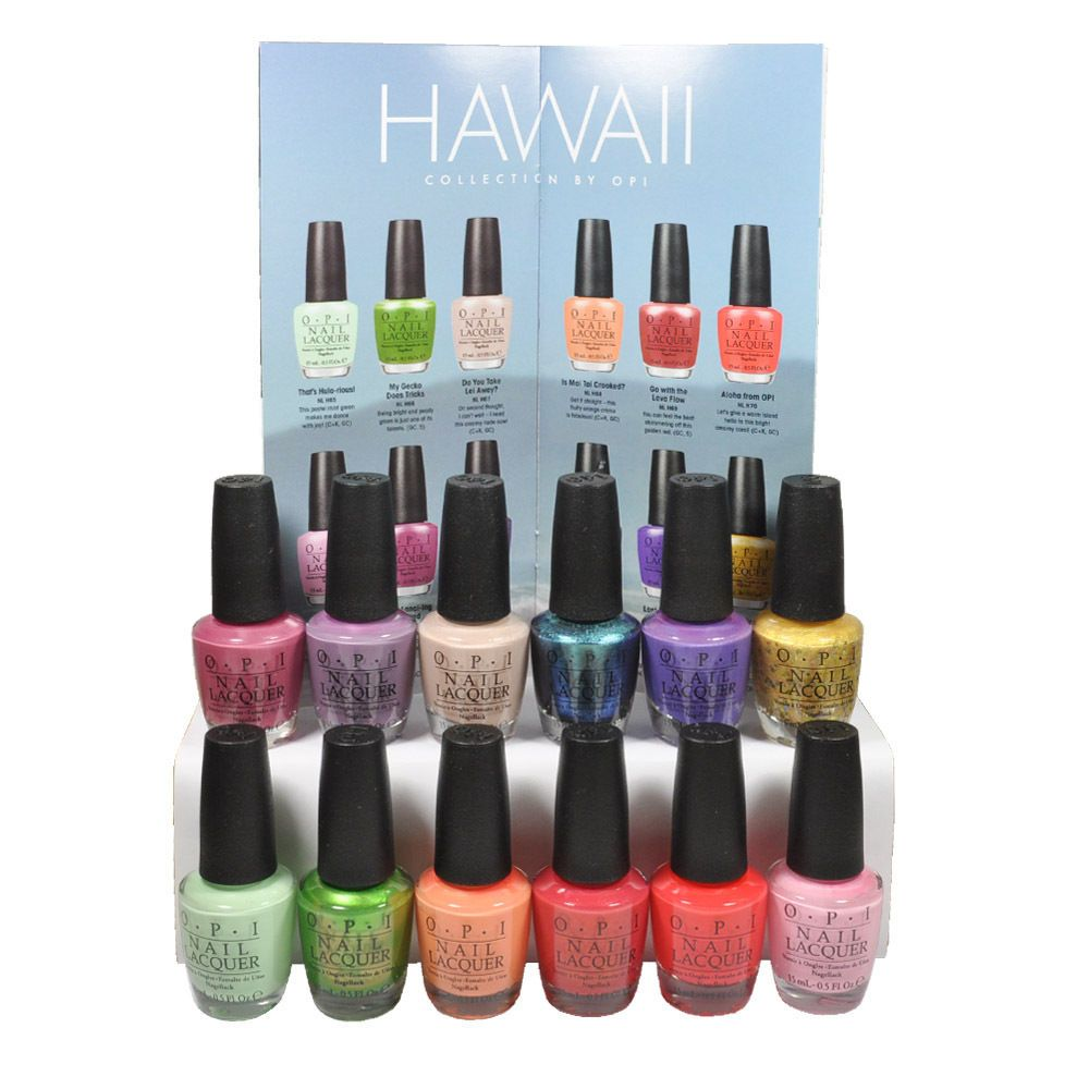 OPI Nail Polish Lacquer Hawaii Spring Summer Collection flozml