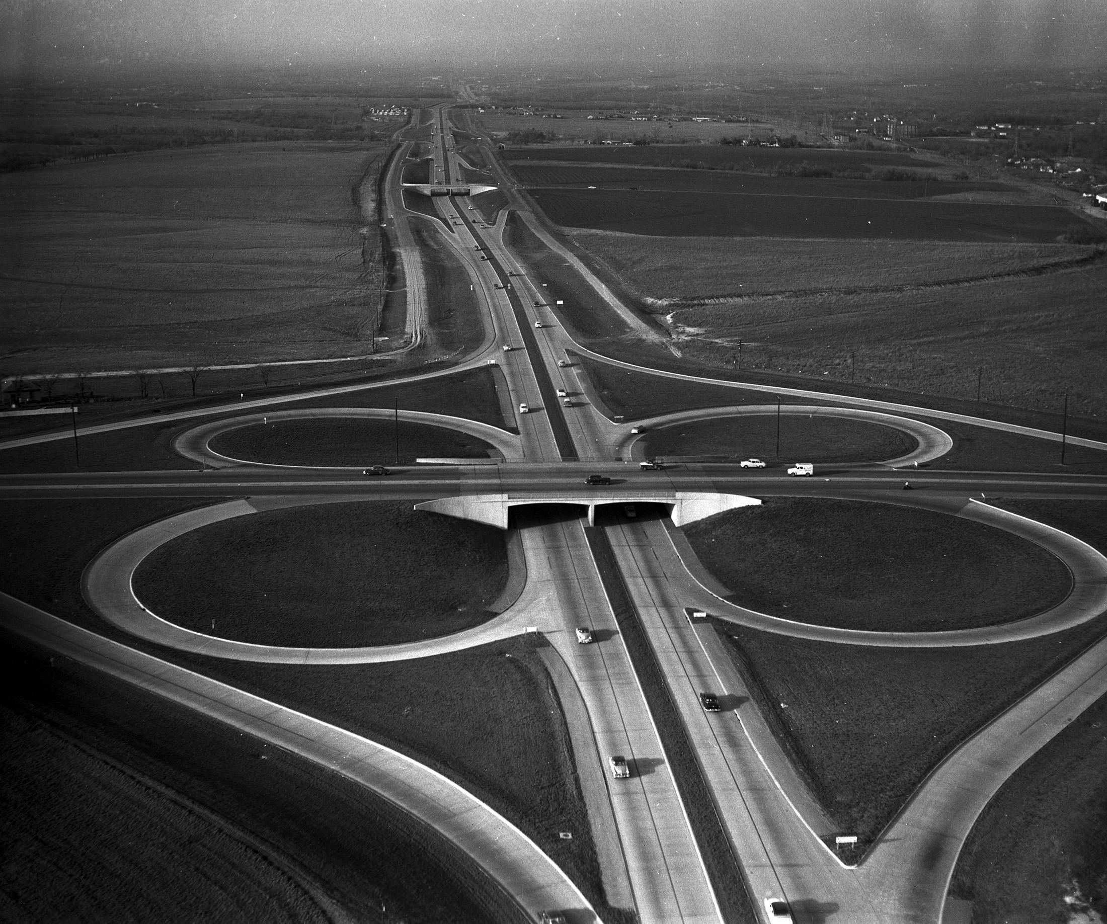 Central expressway and northwest highway 1954 dallas