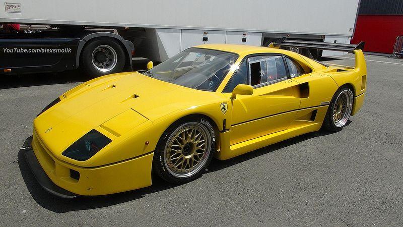 Yellow F40 With Images Ferrari F40 Super Cars Ferrari