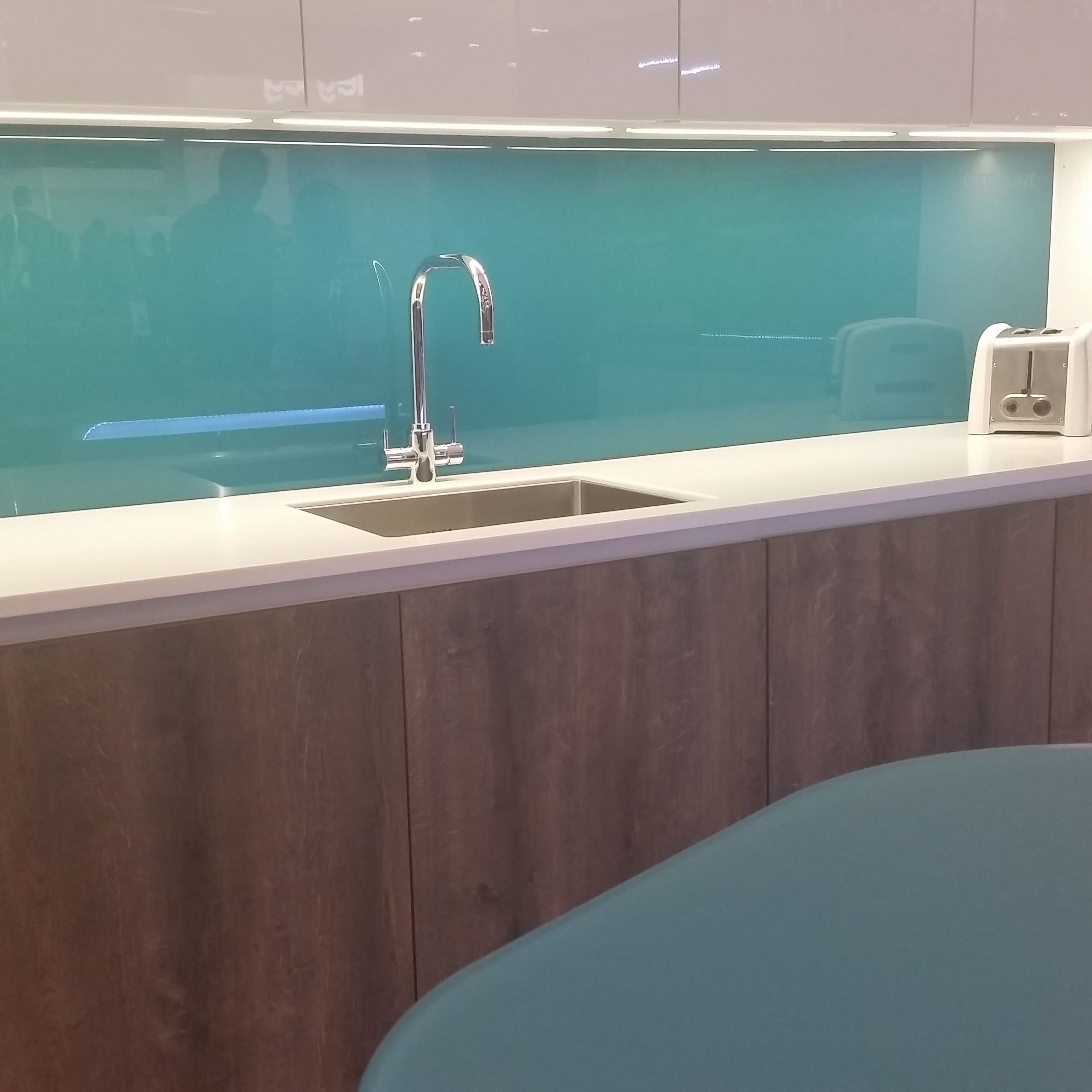 Kitchen Tiles Glass Splashback aqua marine turquoise glass metro tiles | kitchen subway tiles
