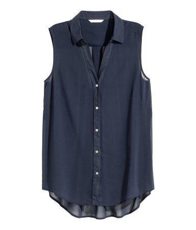 2414ae9f306c4 Sleeveless chiffon blouse