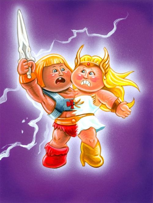 Garbage pail kids he man she ra mashup by john pound