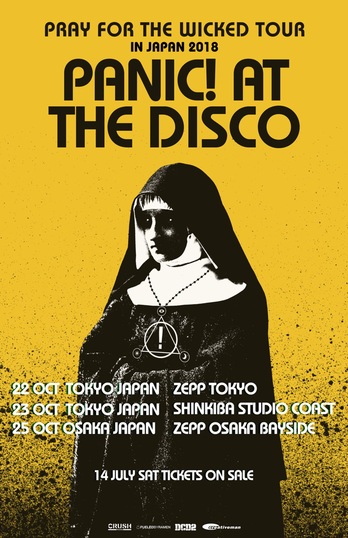6ce6e593 PANIC! AT THE DISCO - Pray For The Wicked tour 2018 | Japan 日本 in ...