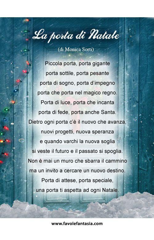 La porta di natale poesie filastrocche pinterest for Abbellire la classe per natale