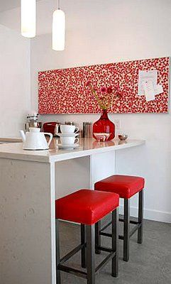 Diy Idea For Pinboard Cover In A White Kitchen Red Bar Stools Frosted White Pendant Lights 3 Home Where The 3 Is Ikea Kitchen Installation Kitchen Ins