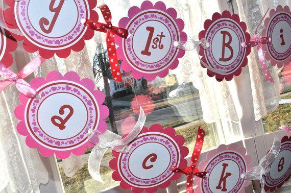 valentine birthday banner valentine's daysosweetpartyshop, Ideas