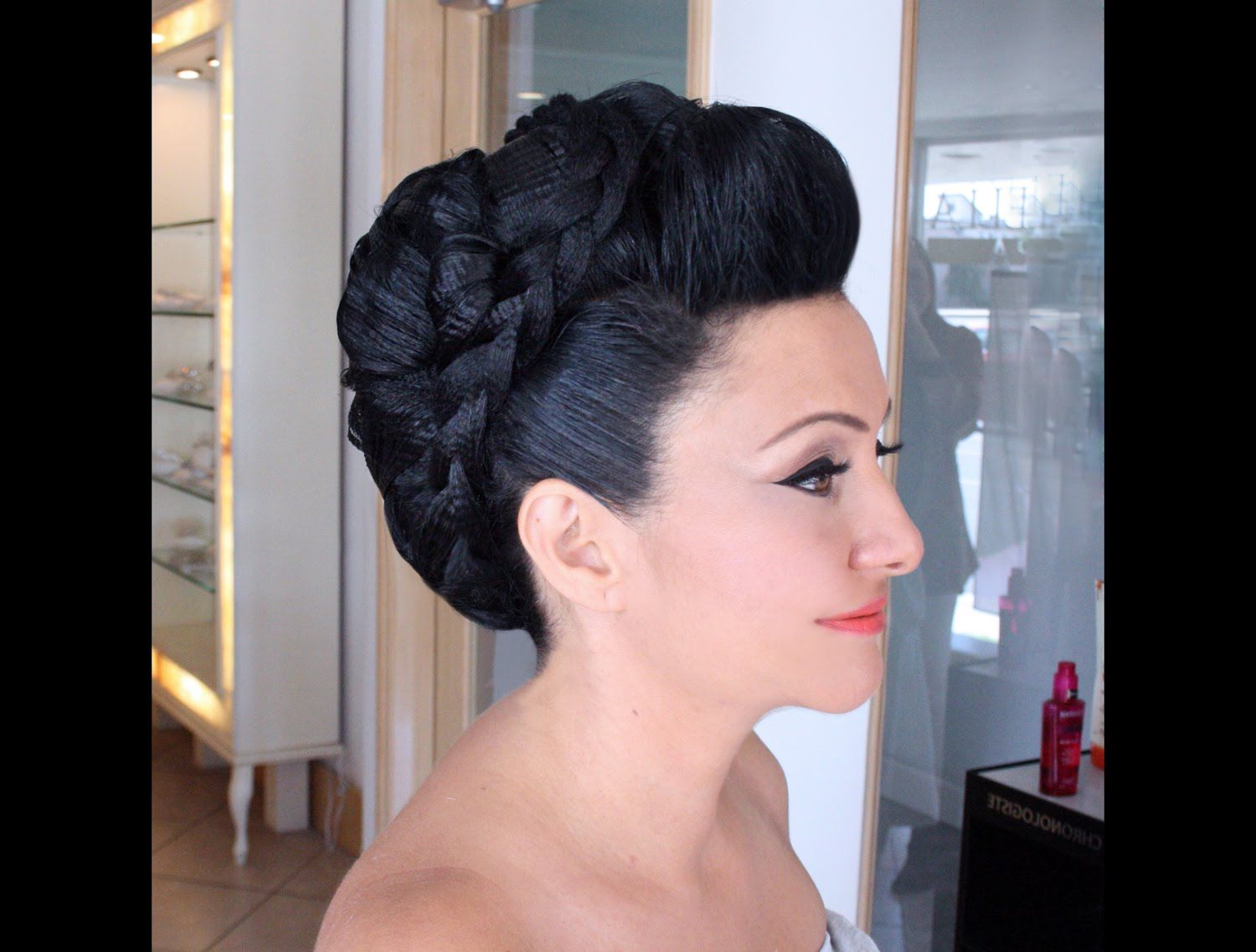 How to create a mohawk hairstyle with texture hair pinterest