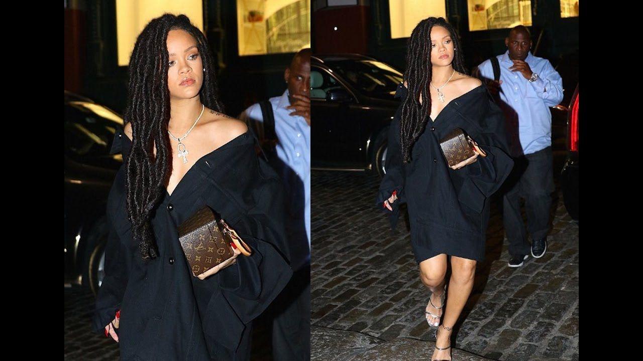 Rihanna New Look Black Dress And Strappy Silver Heels In New York City New Look Black Dress Silver Strappy Heels Rihanna News [ 720 x 1280 Pixel ]