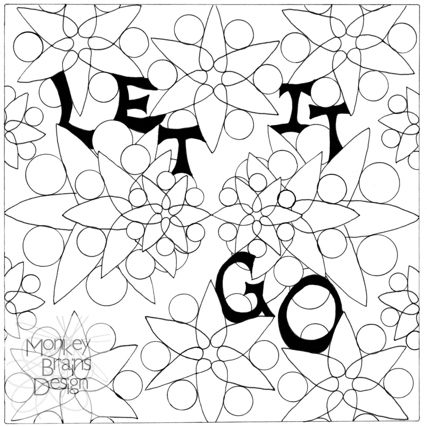 Adult Coloring Color Your Own Let It Go Print