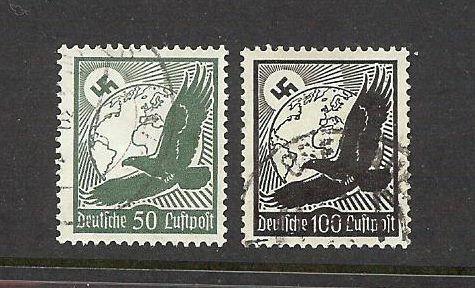 Germany 1934 Deutsche Luftpost 50 Pfennig + Deutsche