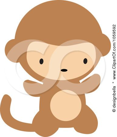 Royalty-Free Vector Clip Art Illustration of a Cute Baby Monkey by designbella