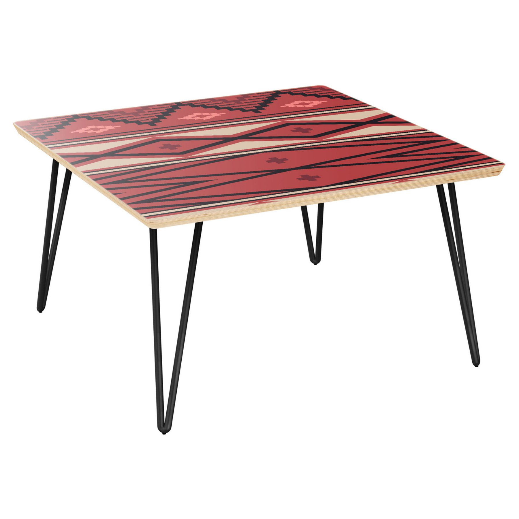 Nyekoncept Mason Hairpin Coffee Table  Aztec Heat  12038451