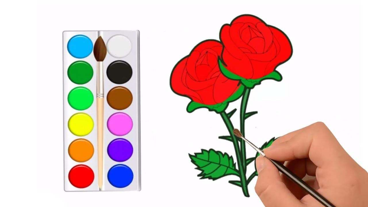 Rose Drawing Easy - How to Draw a Rose Flower - Drawing for Kids ...