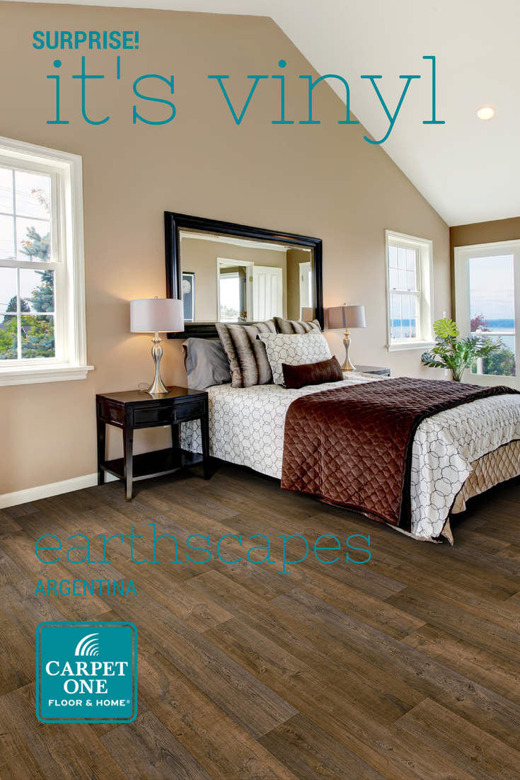 amazing bedroom hardwood floors | Today's vinyl floors are so amazing they can look like ...
