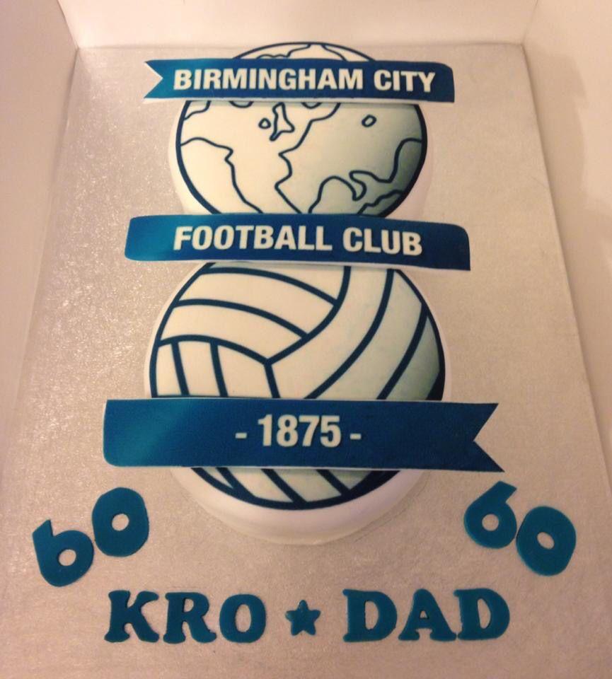 Birmingham City football cake Bcfc cake Blues cake 60th birthday cake Dad birthday cake Football team cake