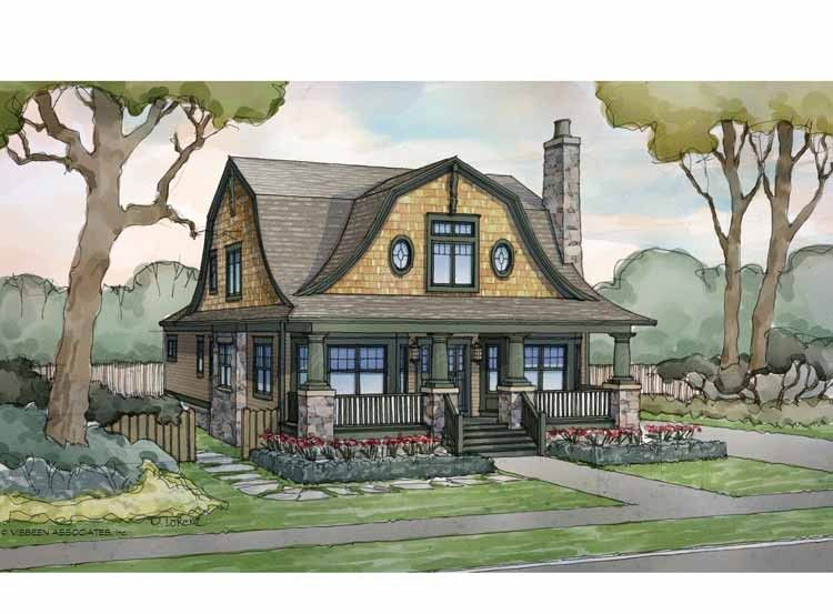 Dutch house plan with 2685 square feet and 4 bedrooms from for Gambrel roof house plans