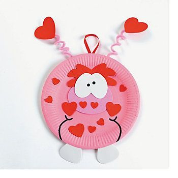 valentineu0027s crafts for kids preschool party | Paper Plate Valentine Monster Craft Kit - Oriental Trading | Crafts | Pinterest | Monster crafts ...  sc 1 st  Pinterest & valentineu0027s crafts for kids preschool party | Paper Plate Valentine ...