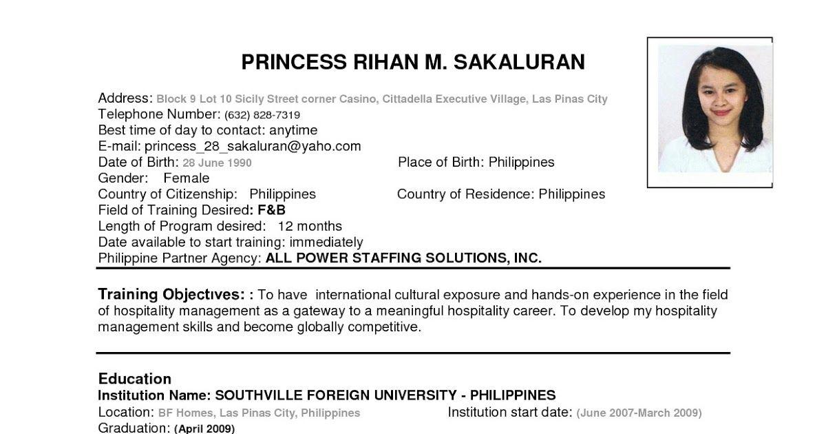 Resume Samples Pdf in 2020 Job resume format, Resume